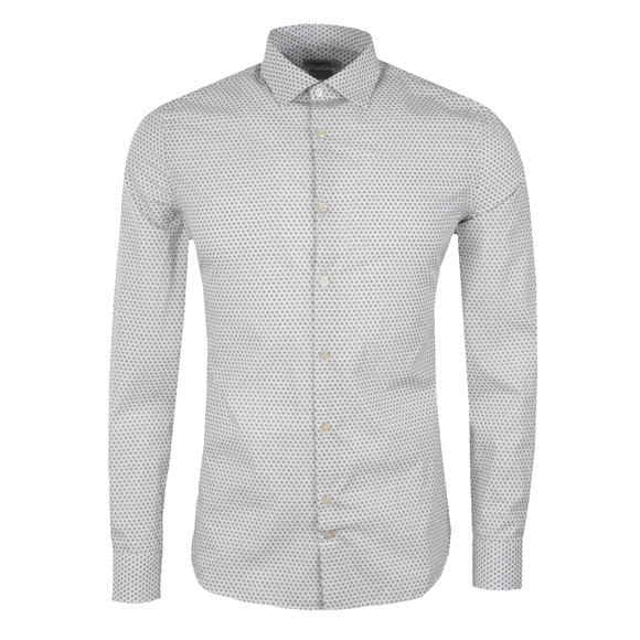 J.Lindeberg Mens White Dani Seasonal Print Shirt main image