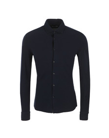 J.Lindeberg Mens Blue Dani Pique Cotton Shirt