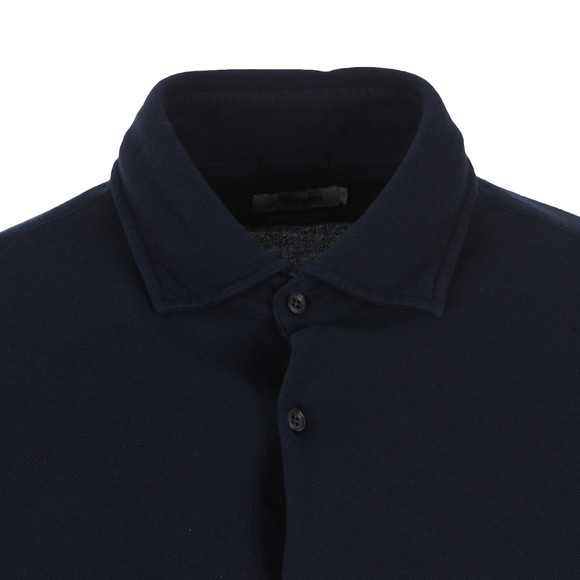 J.Lindeberg Mens Blue Dani Pique Cotton Shirt main image