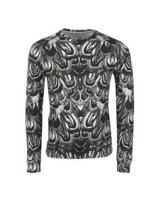 J.Lindeberg Mens White Chad Feather Rift Sweat