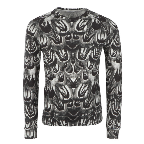 J.Lindeberg Mens White Chad Feather Rift Sweat main image