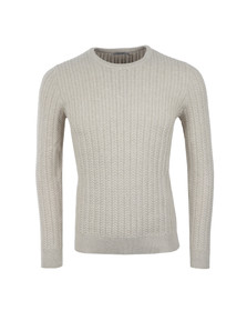 J.Lindeberg Mens Beige Collino Cable Knit Jumper