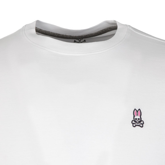 Psycho Bunny Mens White Classic Crew Neck T-Shirt main image