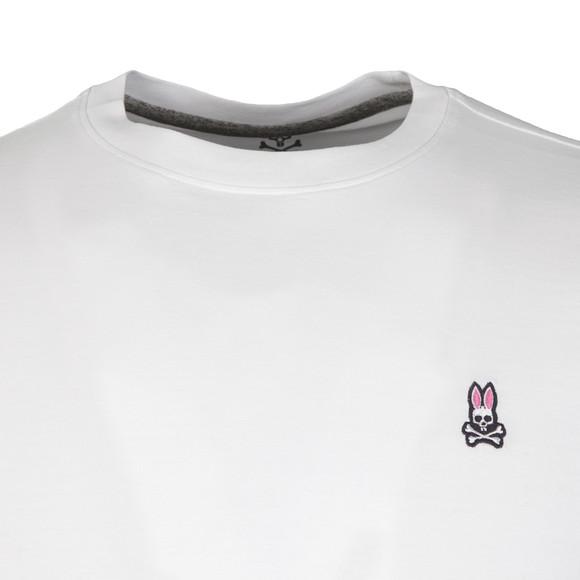 Psycho Bunny Mens White Classic Crew Neck T-Shirt