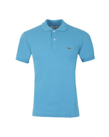 Lacoste Mens Blue L1212 Fidji Plain Polo Shirt
