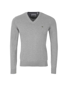 Lacoste Mens Grey AH7417 V-Neck Jumper