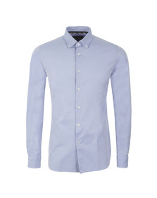 Aquascutum Mens Blue L/S Stephen Shirt