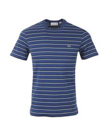Lacoste Mens Blue T- Shirt TH6583