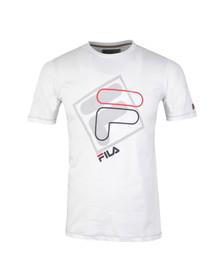 Fila Mens White Davit Crew T Shirt