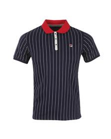 Fila Mens Blue BB1 Pinstripe Polo Shirt