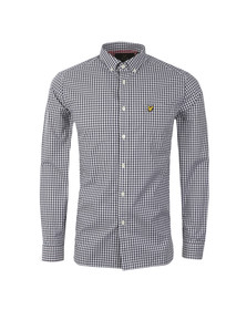 Lyle and Scott Mens Blue Gingham Check LS Shirt