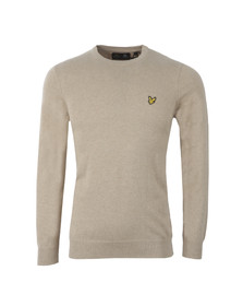Lyle and Scott Mens Off-white Crew Neck Jumper