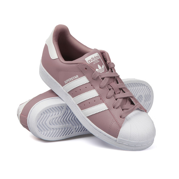 womens adidas lilac superstar trainers