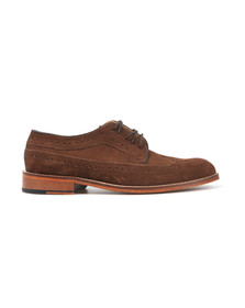 H W Trickett Mens Brown Windsor Suede Brogue
