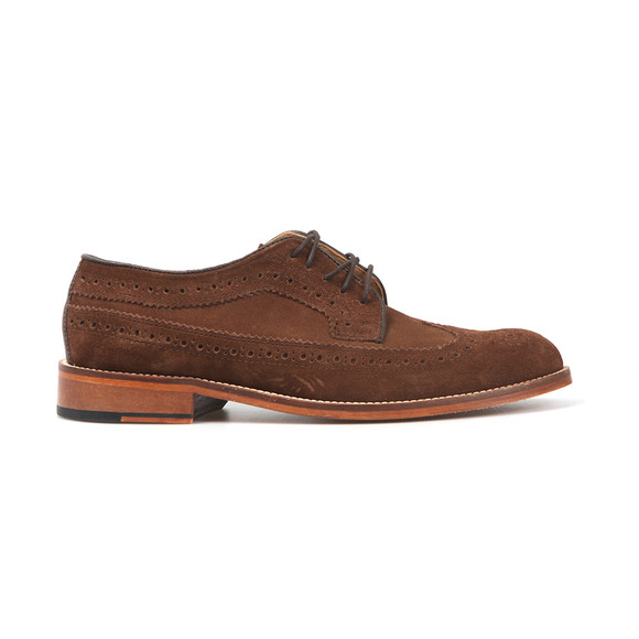 H W Trickett Mens Brown Windsor Suede Brogue  main image