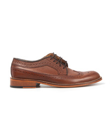 H W Trickett Mens Brown Windsor Leather Brogue