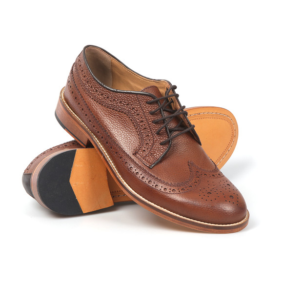 H W Trickett Mens Brown Windsor Leather Brogue main image