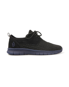 Luke Mens Black Flyer Slip On Trainer