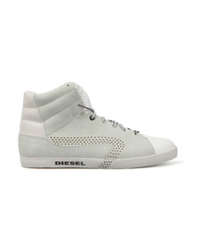 Diesel Mens Grey E-Klubb Hi Trainer