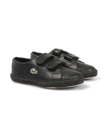 Lacoste Sport Boys Black Black Marcel Leather Classic Trainer