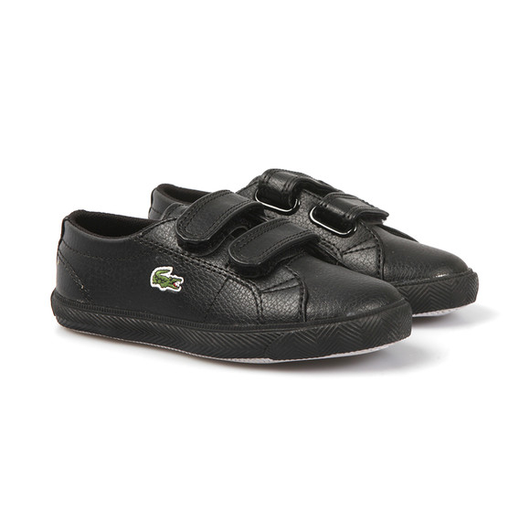 Lacoste Sport Boys Black Black Marcel Leather Classic Trainer main image