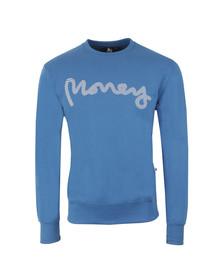 Money Mens Blue High Build Sig Ape Crew Sweatshirt