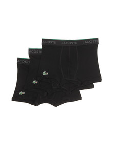 Lacoste Mens Black Three Pack Trunks 150915