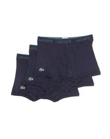 Lacoste Mens Blue Three Pack Trunks 150915