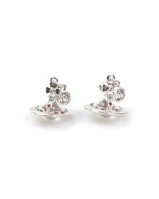 Vivienne Westwood Womens Silver Petite Orb Earring