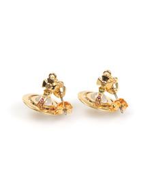 Vivienne Westwood Womens Gold Petite Orb Earring