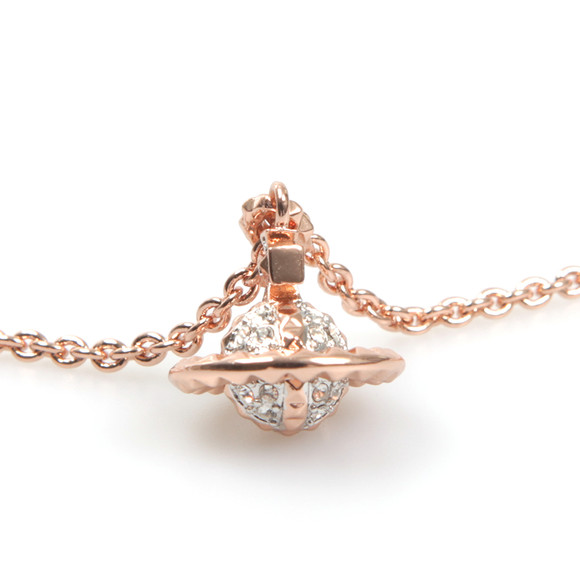 Vivienne Westwood Womens Pink Mayfair 3D Small Orb Pendant main image