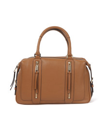 Michael Kors Womens Brown Julia Large Satchel