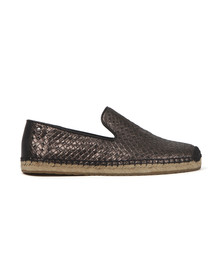 Ugg Womens Black Sandrinne Metallic Basket Shoe
