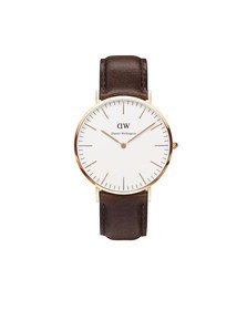 Daniel Wellington Unisex Pink Classic Bristol 40mm Watch