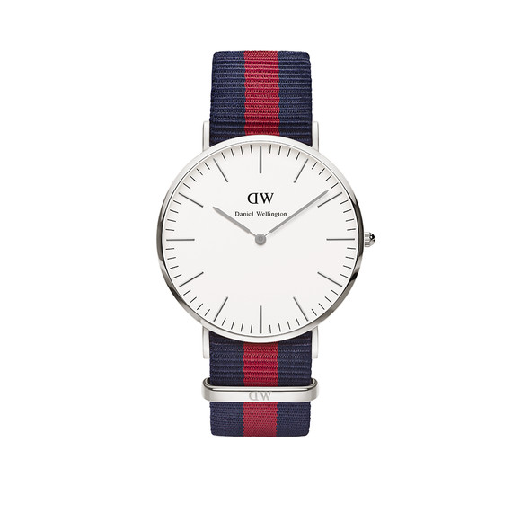 Daniel Wellington Unisex Silver Classic Oxford 40mm Watch main image