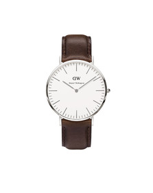 Daniel Wellington Unisex Silver Classic Bristol 40mm Watch