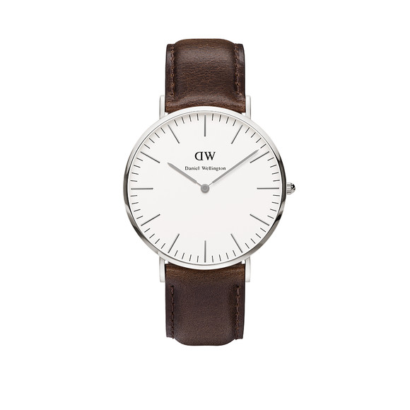 Daniel Wellington Unisex Silver Classic Bristol 40mm Watch main image