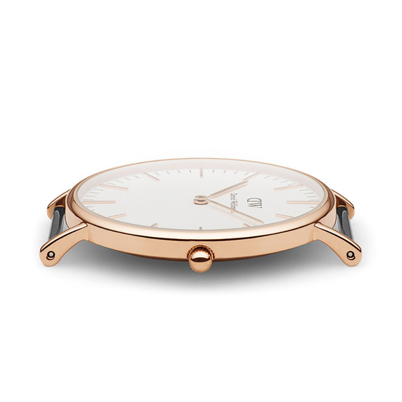 Daniel Wellington Unisex Pink Classic Winchester 36mm Watch main image