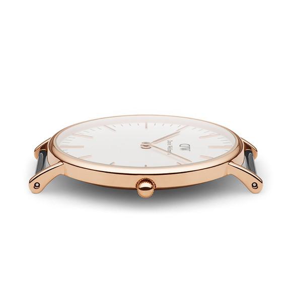 Daniel Wellington Unisex Pink Classic Bristol 36mm Watch main image