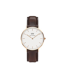 Daniel Wellington Unisex Pink Classic Bristol 36mm Watch