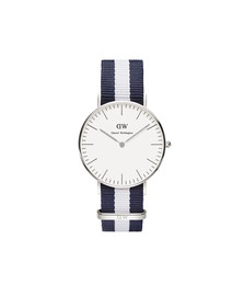Daniel Wellington Unisex Silver Classic Glasgow 36mm Watch
