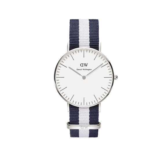 Daniel Wellington Unisex Silver Classic Glasgow 36mm Watch main image