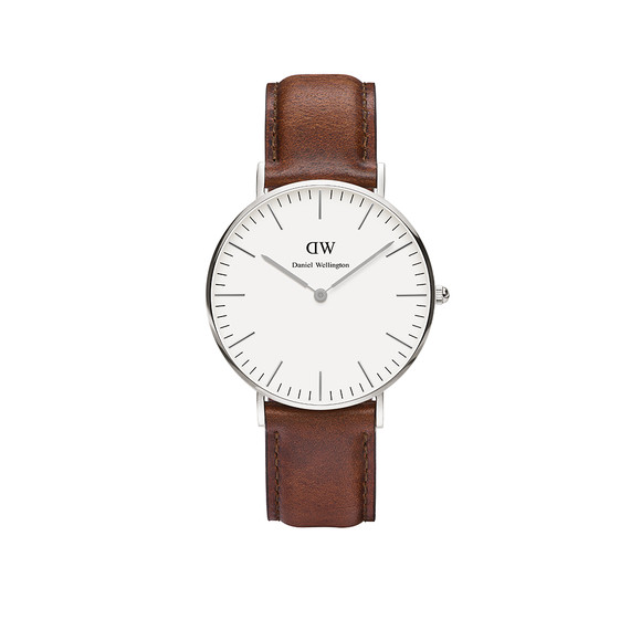 Daniel Wellington Unisex Silver Classic St. Mawes 36mm Watch main image