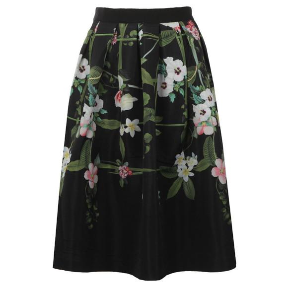 Ted Baker Womens Black Emmalin Secret Trellis Midi Full Skirt main image