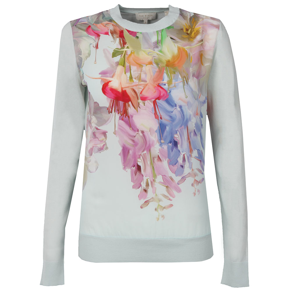 d030689f55878 Ted Baker Womens Green Gertey Hanging Gardens Print Sweater main image.  Loading zoom