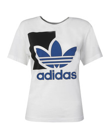 Adidas Originals Womens White Run Logo T Shirt