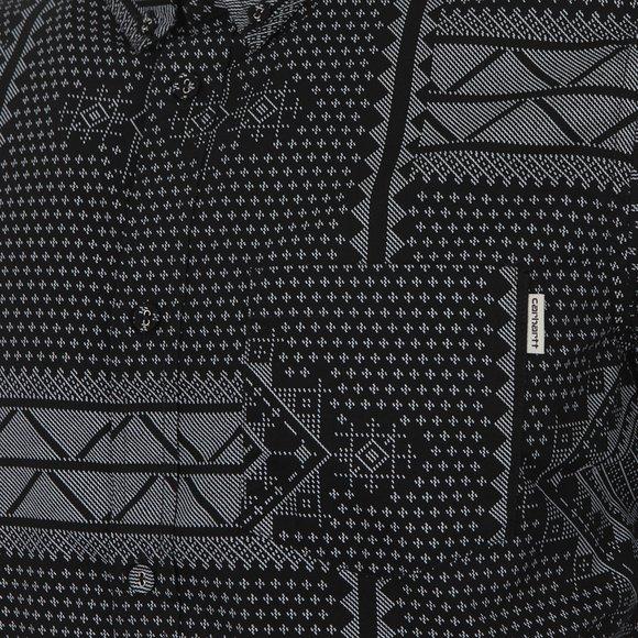 Carhartt WIP Mens Black Trenton Assyut Shirt main image