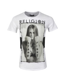 Religion Mens White Stand & Fight S/S Crew T-Shirt