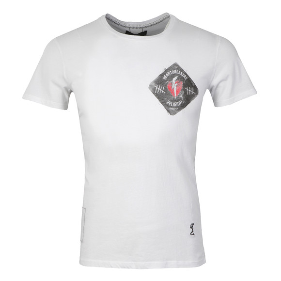 Religion Mens White Heart Breaker Crew T-Shirt main image