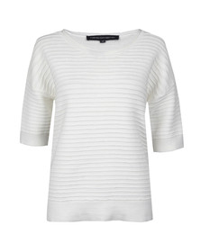 French Connection Womens White Heatwave Dinka Crepe Jumper